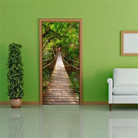 door wallpaper with nature motif bridge to non woven door poster photo wallpaper