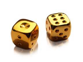 40th anniversary plate luxury gold plated dice