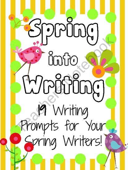 spring writing prompts  kidsforever