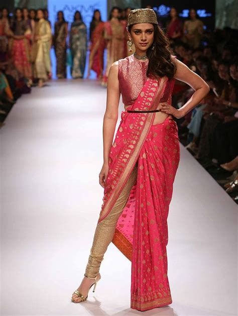 Tight Saree Draping - glamorous ways to wear pant style sarees to look like a