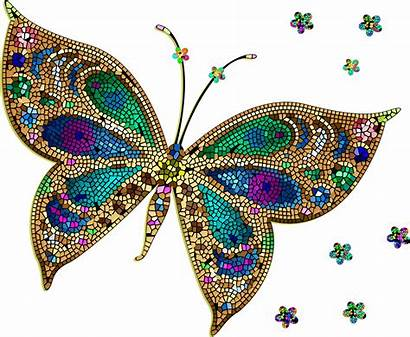 Butterfly Colorful Purple Transparent Clipart Tiled Pink