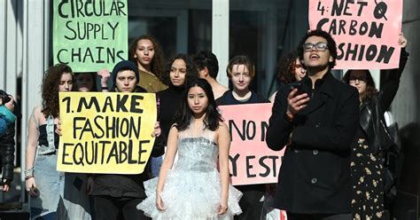 Extinction Rebellion Protested at New York Fashion Week