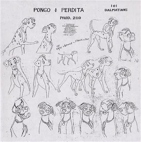 cartoon concept design disneys  dalmations model sheets