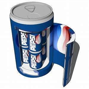 Pepsi Fridge 02 3D Model FormFonts 3D Models Textures