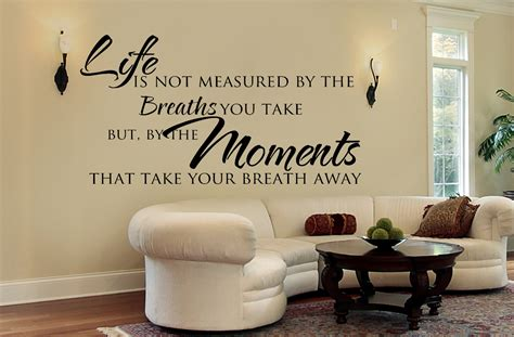 living room wall decals inspirational quote