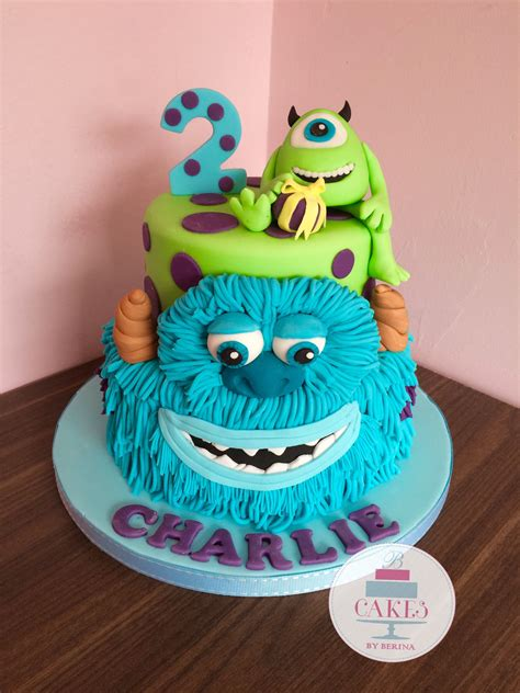 monsters  sullivan  mike  tier bright birthday cake