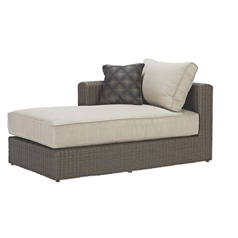 outdoor sofa with chaise hanover strathmere all weather wicker patio luxury chaise