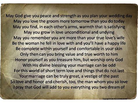 bride   prayer print engagement party speech mother