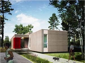 Une Maison Prfabrique Cologique L39An Vert Du Dcor