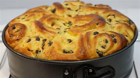 hervé cuisine brioche recette du gâteau chinois à la crème et aux raisins