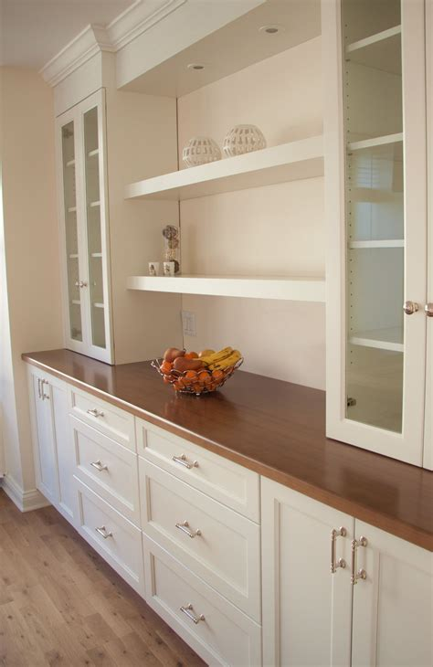 dining room built  cabinets  storage design