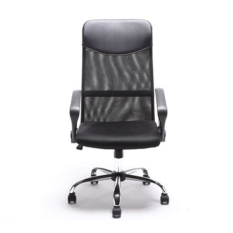 modern ergonomic desk chair black modern executive ergonomic mesh high back computer