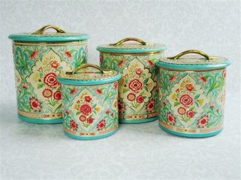 vintage kitchen storage tins vintage nesting tin canister set made in mid 6834