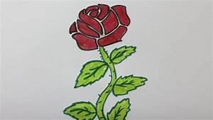 Comment Faire Secher Une Rose : comment dessiner une rose etape par etape youtube ~ Melissatoandfro.com Idées de Décoration