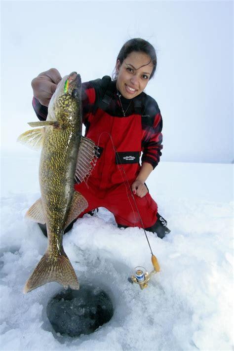 ice fishing girl drowning worms