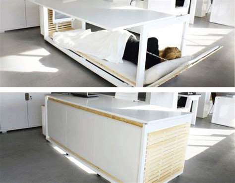 desk transforms into bed you can sleep at work with this desk that turns into a bed