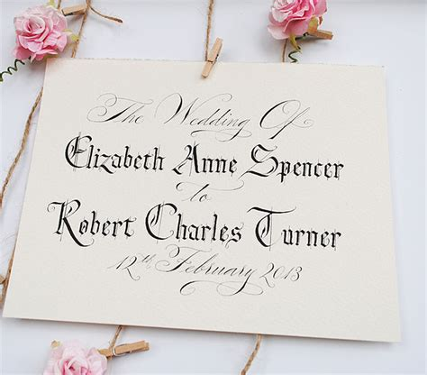 wedding calligraphy quotes  signs english wedding blog