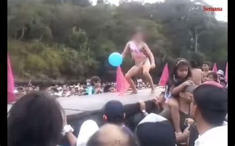 colombians outraged    thong pageant