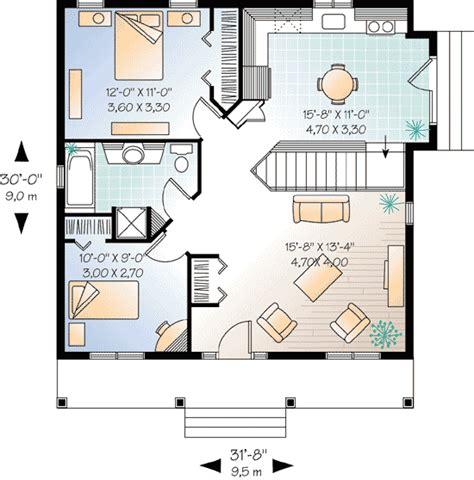 2 bedroom cottage plans 2 bedroom cottage house plan 21255dr architectural designs house plans
