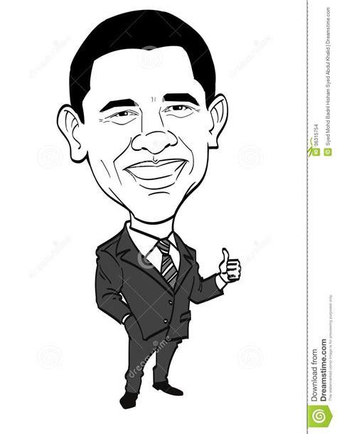 caricature series barack obama editorial stock image