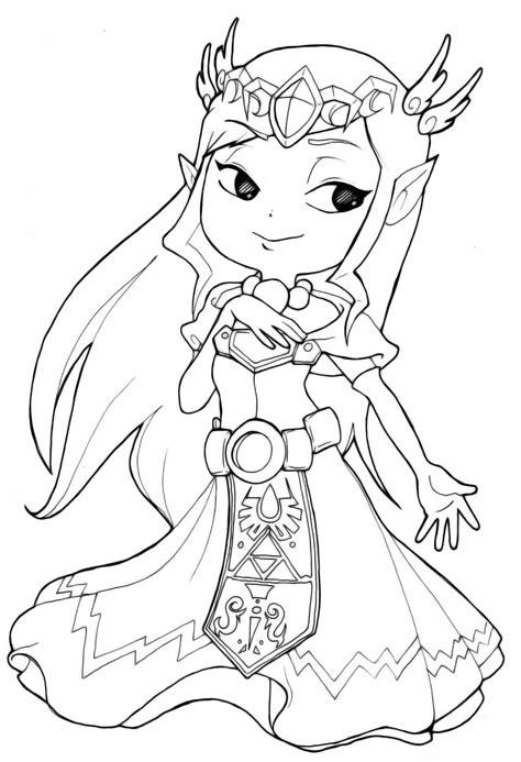 zelda coloring pages princess zelda toon coloringstar
