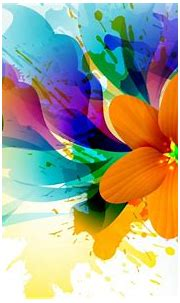 Abstract 3D Painting Wallpaper with Colorful Flower - HD ...
