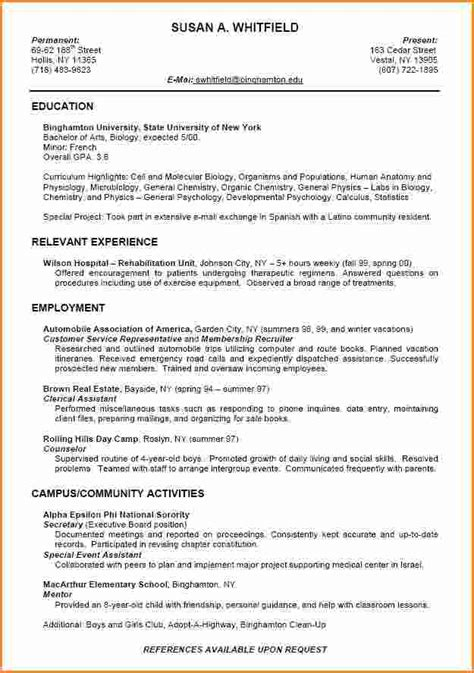 Resume Guidelines For High School Students by 10 High School Student Resume For College Invoice Template