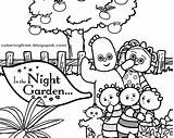Night Garden Coloring Printable Drawing Beginners Colouring Cartoon Drawings Tombliboos Upsy Daisy Igglepiggle Activity Easy Tree Grove Apple Characters sketch template