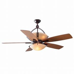 Hampton bay miramar quot ceiling fan weathered bronze dome
