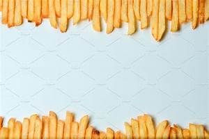 French fries on white background ~ Food & Drink Photos ...