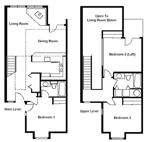 2 bedroom with loft house plans floor plan two bedroom loft rci id 1711 whispering