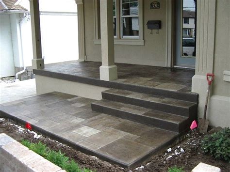 cement porch ideas i could paint the concrete patio like this for a year to make it look nice until we replace it