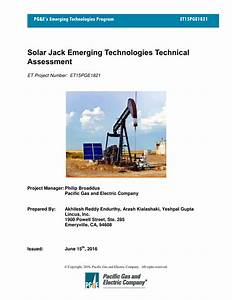 Pdf  Solar Jack Emerging Technologies Technical Assessment