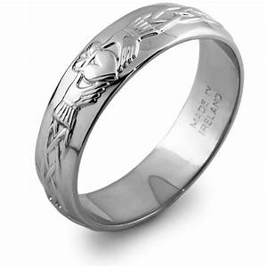 mans sterling silver claddagh wedding ring ms rs42 With mans wedding ring