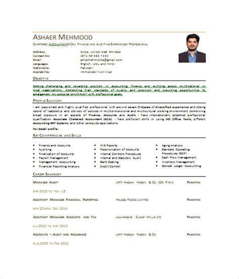 Resume Headline Chartered Accountant by Accountant Resume Templates 7 Free Word Pdf Documents