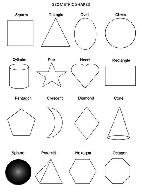 Coloring Shapes by All Geometric Shapes Coloring Page Netart