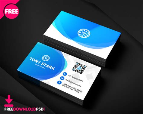 corporate business card psd template freedownloadpsdcom