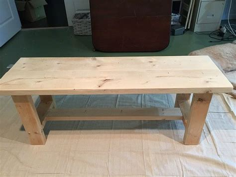 Kitchen Table Bench Plans Free by Farmhouse Bench Building Plans Refresh Restyle