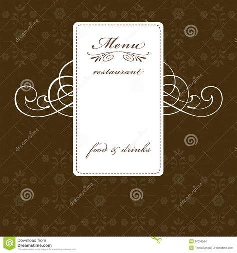 elegant restaurant menu design stock images image