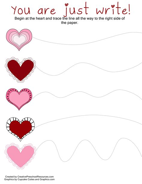 trace amp cut printables creative preschool 461 | curved line tracing page 001
