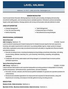 Cover Resume Letter Examples Senior Recruiter Resume Example Employment Recruiting