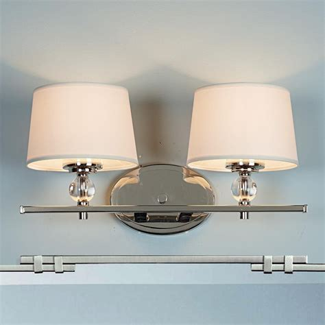 Polished Nickel Bathroom Lighting Fixtures by Accent Polished Nickel Bath Light 2 Light Cape