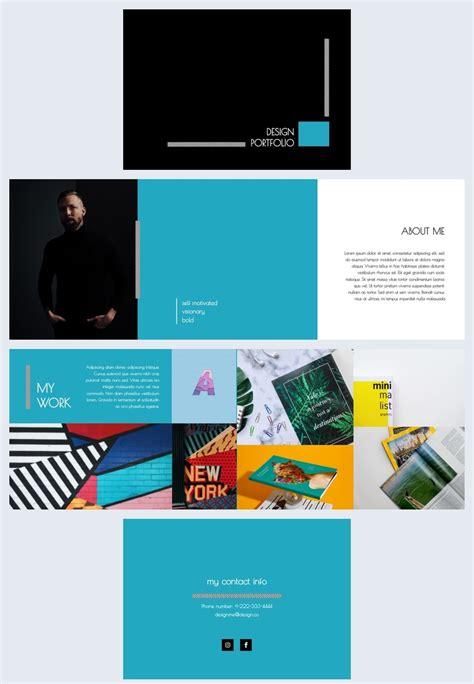blue themed portfolio design template flipsnack