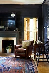36, Stylish, Dark, Living, Room, Designs