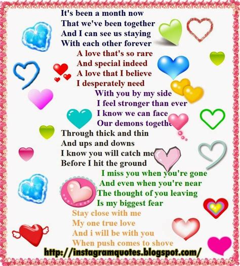 happy  month anniversary poems   cute instagram
