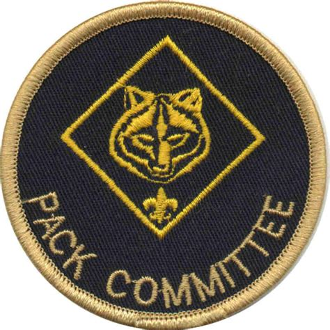 cub scout committee chair patch placement building a working pack committee scouter