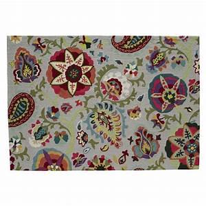 Tapis Scandinave Maison Du Monde : tapis multicolore 160 x 230 cm salcea maisons du monde ~ Nature-et-papiers.com Idées de Décoration