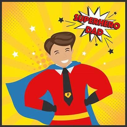 Dad Vector Superhero Cartoon Hero Super Edit