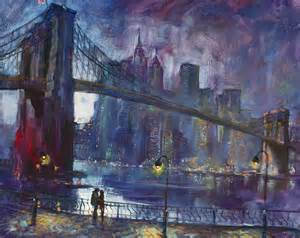 Kid Shower Curtains by Romance By East River Nyc Painting By Ylli Haruni