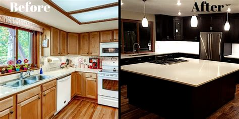 Kitchen Cabinet Island Design - kitchen remodel before and after ideas incredible kitchen remodel before and after
